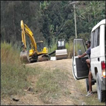 Undertaking roadworks in Chimbu Province