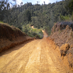 Finished weather-proof road in Chimbu Province