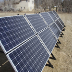 KUBE Technology™ solar panel test site - Casper, Wyoming USA